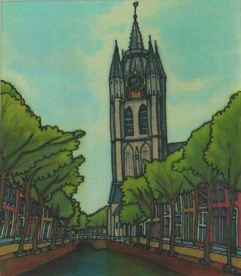 Oude Kerk Delft schilderij Ena van Bockel